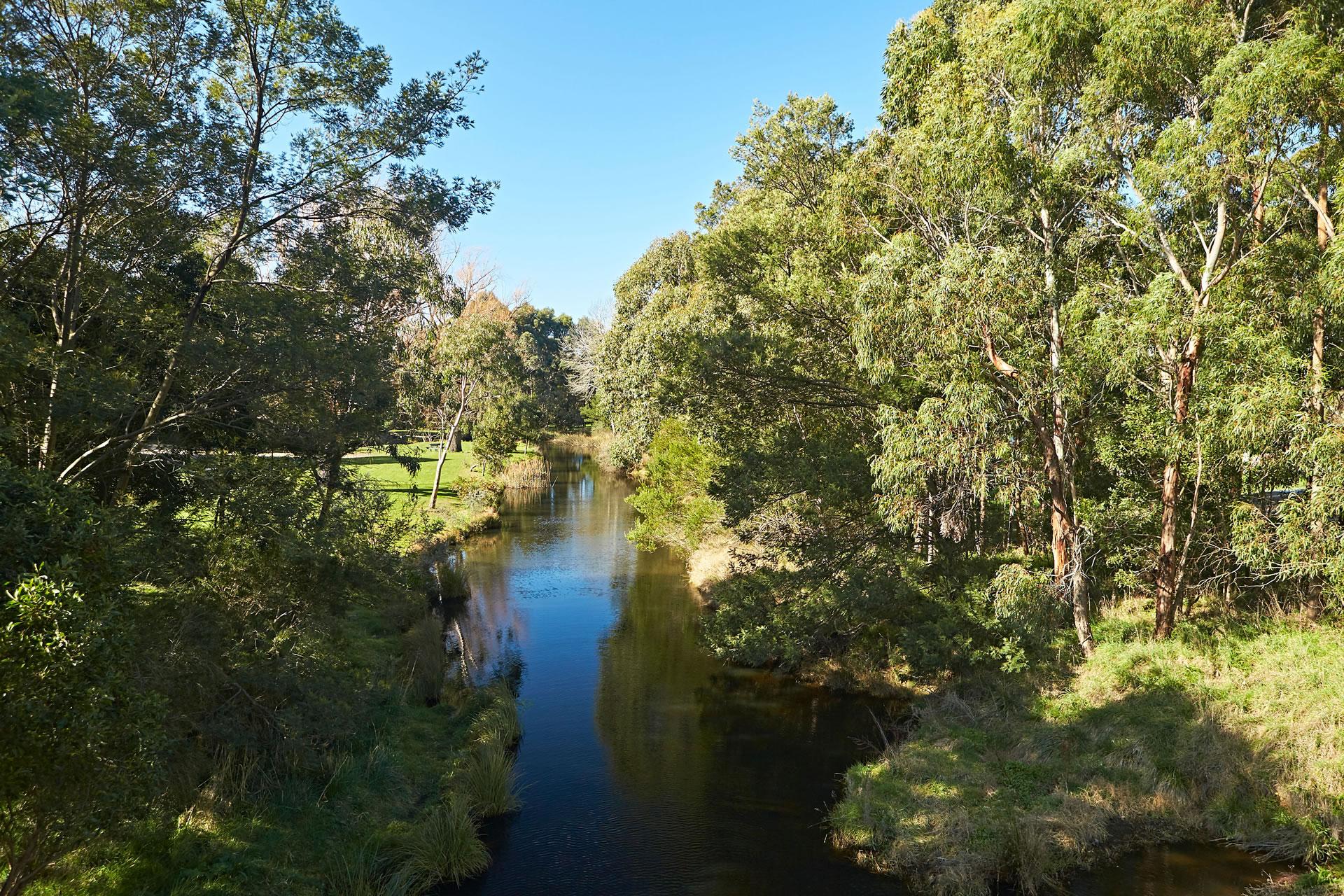 Werribee river Ballan